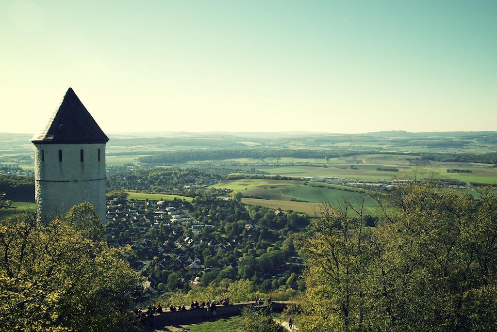 Burg Plesse Blick über das Leinetal